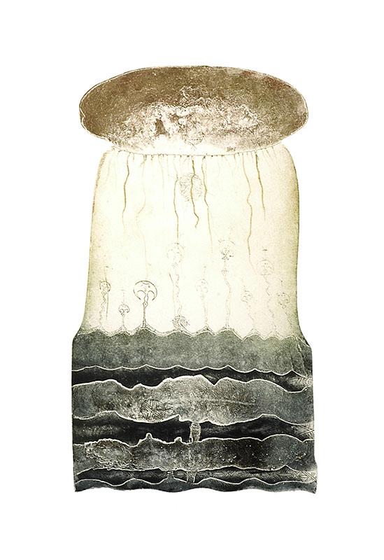 Dennis Nona, Wakasu I – Coconut Oil, Torres Strait Islander art