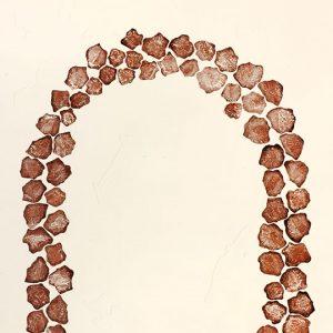 Dennis Nona, Wapiew III – Fish Rocks, Torres Strait Islander art