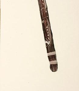 Dennis Nona, Gaba Gab II – War Club, Torres Strait Islander art