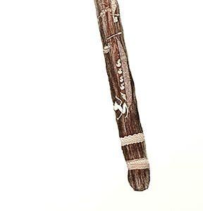 Dennis Nona, Gaba Gab III – War Club, Torres Strait Islander art