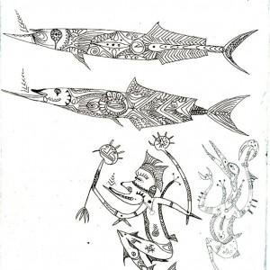 Dennis Nona, Torres Strait Islander artist, Zaber
