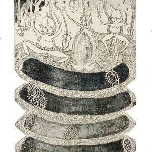 Dennis Nona, Untitled IV, Torres Strait Islander art