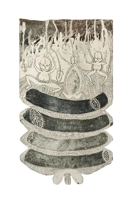 Dennis Nona, Untitled V, Torres Strait Islander art