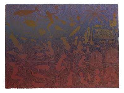 Dennis Nona, Yellub A Ngau Unai II, Torres Strait Islander art