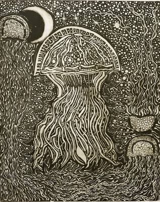 Aboriginal art, Romena Rose Edwards, Jellyfish and Eclipse