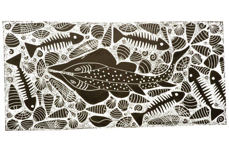 Aboriginal art, Sid Bruce Short Joe, Nga Moonda - Shovel Nose Ray