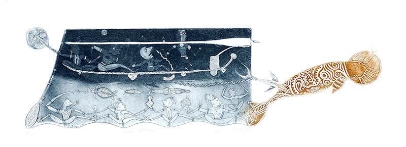 Dennis Nona, Gapu Dhangal, Torres Strait Islander art