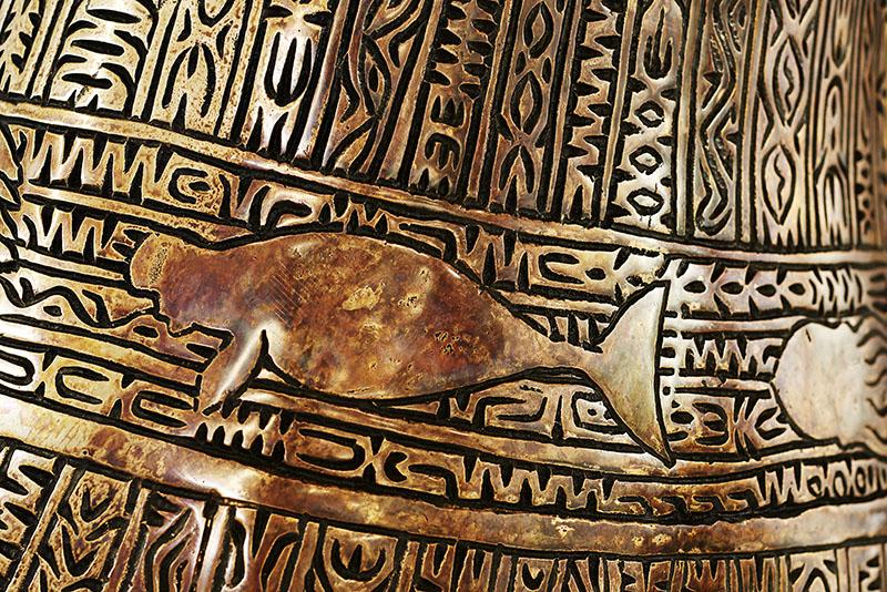 Alick Tipoti, Kisay Dhangal detail, Torres Strait Islander art