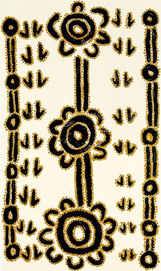 Teddy Jupurrurla Morrison, Wamparna - Bush Wallaby, Aboriginal art