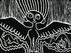 Jimmy Pike, Mangkaja Kangaroos, Aboriginal Art