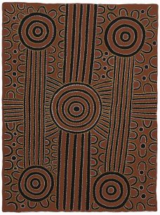 David Ross Pwerle, Argia - Bush Plumb Ceremony, Aboriginal art, Central Desert