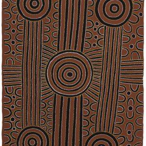 David Ross Pwerle, Argia - Bush Plumb Ceremony, Aboriginal art, Central Desert