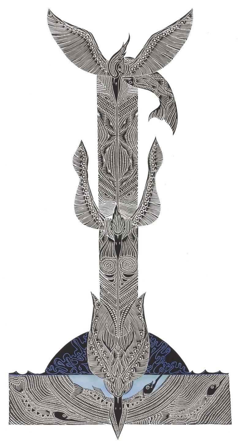 Laurie Nona, Sakrrau Danalaig, Torres Strait Islander art, Badu Island