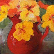 Carolyn Lockhart, Nasturtiums I, Australian art