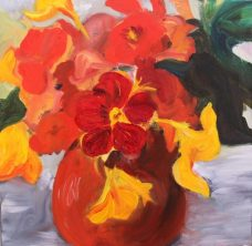 Carolyn Lockhart, Nasturtiums II, Australian art