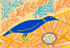 Doris Gingingara, Crow and Nest (Spring), Aboriginal art