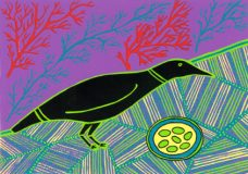 Doris Gingingara, Crow and Nest (Summer), Aboriginal art
