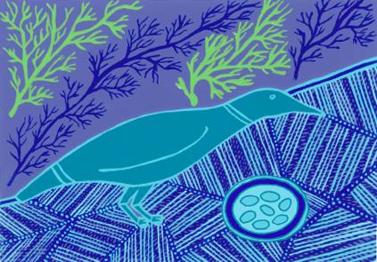 Doris Gingingara, Crow and Nest (Wet Season), Aboriginal art