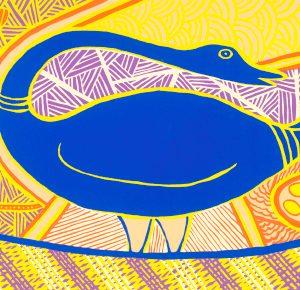 Doris Gingingara, Magpie Goose (Spring), Aboriginal art
