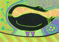Doris Gingingara, Magpie Goose (Summer), Aboriginal art