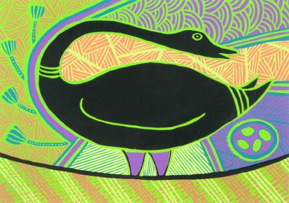 Doris Gingingara, Magpie Goose (Summer), Aboriginal art