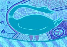 Doris Gingingara, Magpie Goose (Wet Season), Aboriginal art