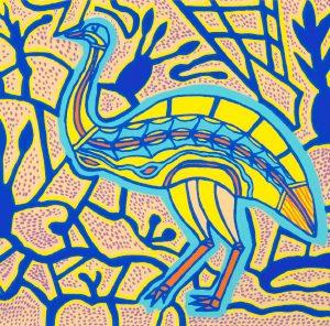 Doris Gingingara, Emu Spring, Aboriginal art