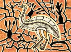 Doris Gingingara, Emu (Dry Season), Aboriginal art