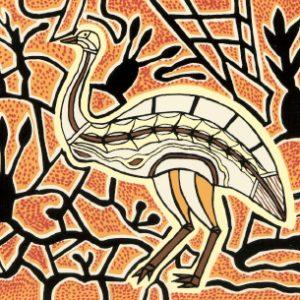 Doris Gingingara, Emu (Dry Season), Aboriginal art