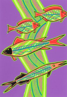Doris Gingingara, Freshwater Fish (Summer), Aboriginal art