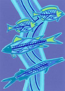 Doris Gingingara, Freshwater Fish (Wet Season), Aboriginal art