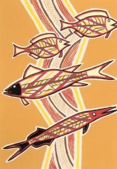 Doris Gingingara, Freshwater Fish (Dry Season), Aboriginal art