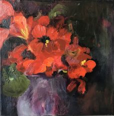 Carolyn Lockhart, Nasturtiums in a Vintage Pot , Australian art