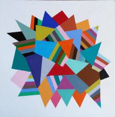 Mary Shackman, Bright Floating Geometric, Australian contemporary art