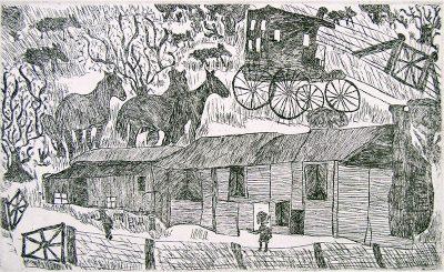 Roy Kennedy, Mossgiel Weigh Station, Aboriginal art