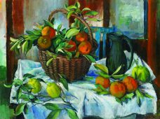 Margaret Olley, Basket of Oranges, Lemons and Jug, Australian contemporary art