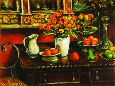 Margaret Olley, Marigolds and Fruit, Australian contemporary art