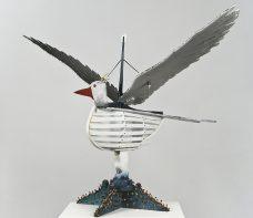 Ken Thaiday, Seagull Totem, Torres Strait Islander art
