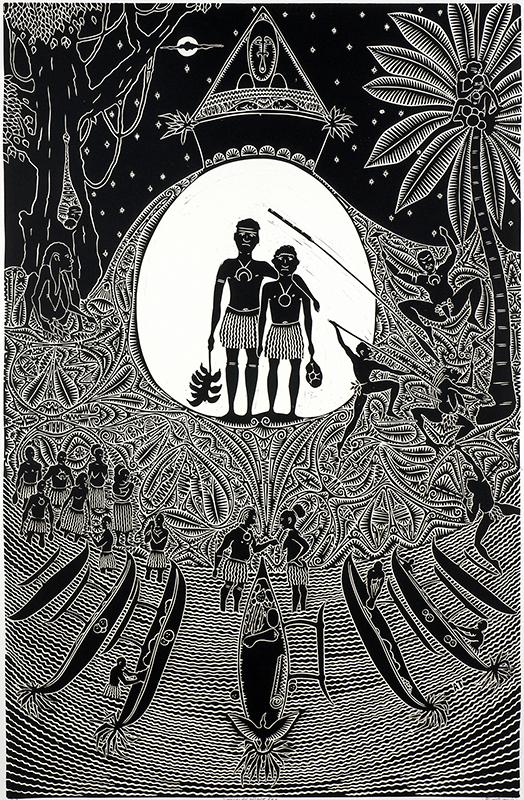 Dthogai Ar Oksarr Kaz, Alick Tipoti, Torres Strait Islander art