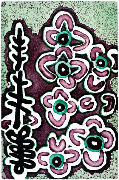 Lily Hargreaves Nungarrayi, Liwirrinki - Goanna Dreaming, Aboriginal art