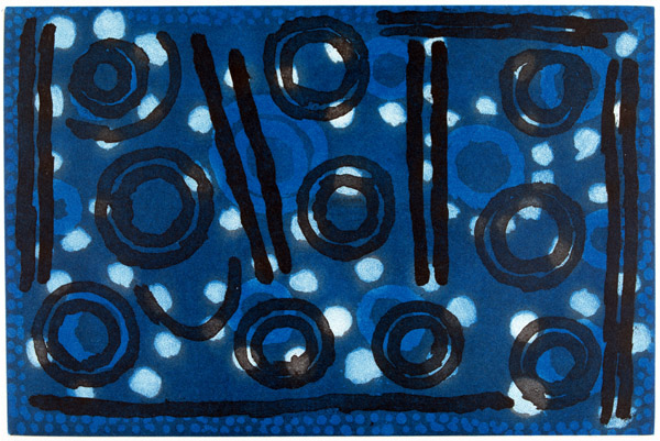 Paddy Sims Japaljarri, Yanjirlpiri - Star, Aboriginal art