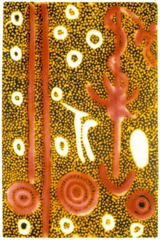 Paddy Stewart Japaljarri, Ngarlu Jukurrpa - Love Story II, Aboriginal art