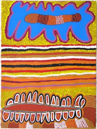 Bai Bai Napangarti, Love Magic Ceremony Design, Aboriginal art