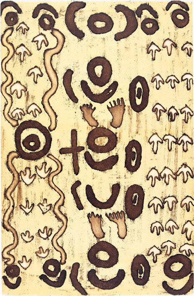 Teddy Morrison Jupurrurla, Kulukuku - Wild Bush Dove, Aboriginal art