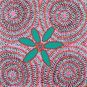 Yuparli Jukurrpa - Bush Banana Dreaming, Marita Napanangka Marshall, Aboriginal art