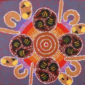 Yurrampi Jukurrpa - Honey Ant Dreaming, Alfreda Nungarrayi Martin, Aboriginal art