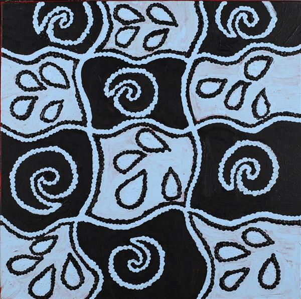 Ngapa Jukurrpa - Water Dreaming - Pirlinyarnu, Gwenda Nakamarra Gill, Aboriginal art