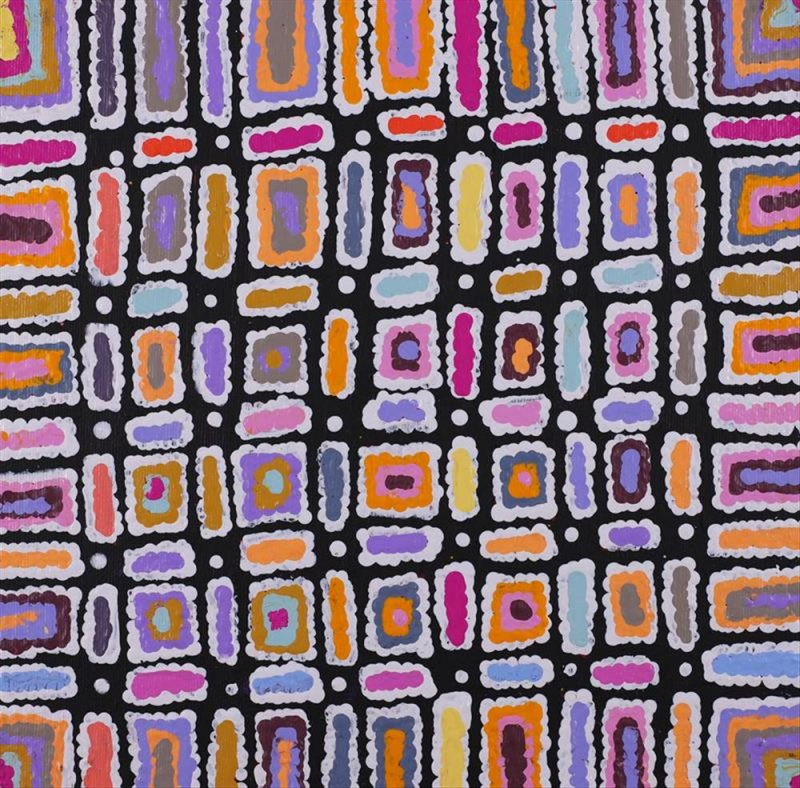 Ngapa Jukurrpa - Water Dreaming - Puyurru, Lynette Nangala Singleton, Aboriginal art