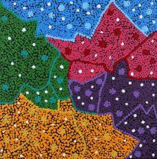 Ngapa Jukurrpa - Water Dreaming - Puyurru, Nikkita Nangala Sampson, Aboriginal Art