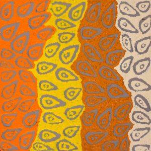 Lukarrara Jukurrpa - Desert Fringe-rush Seed Dreaming, Maisie Napurrurla Wayne, Aboriginal art